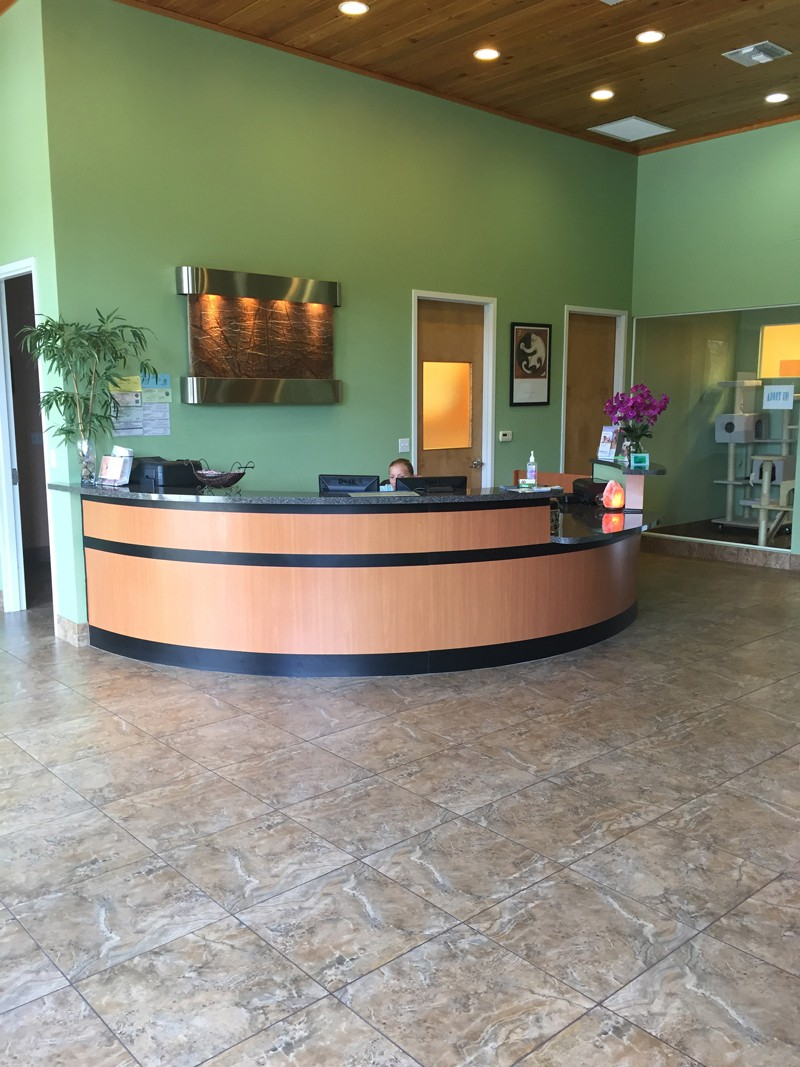 The front reception area